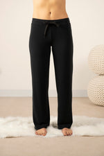 Cozy wide leg pant in back to black