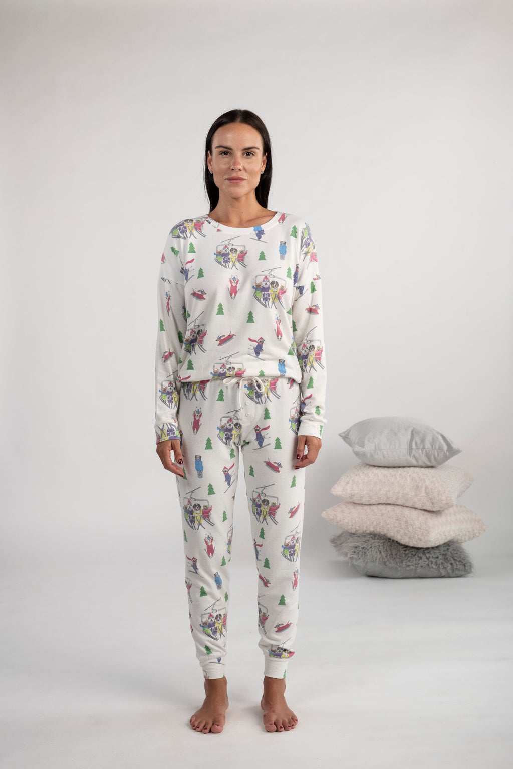 Dog skiers long PJ