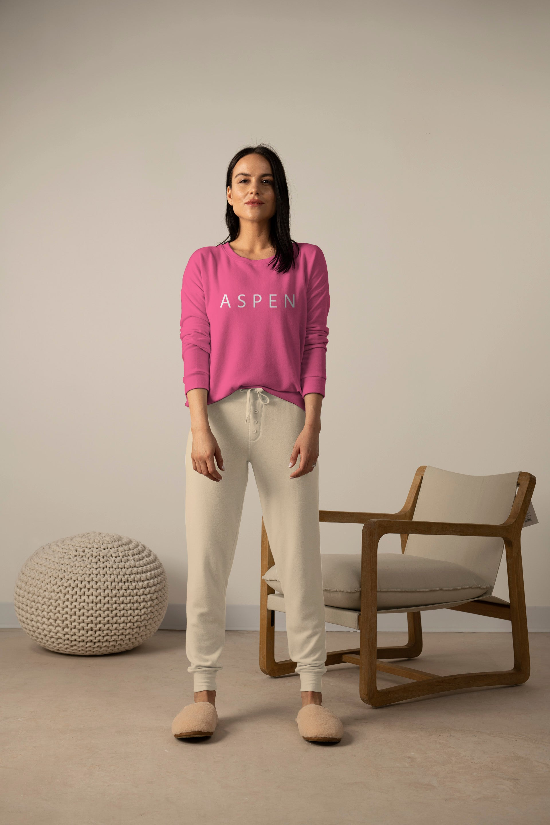 Hello from Aspen long sleeve top in magenta