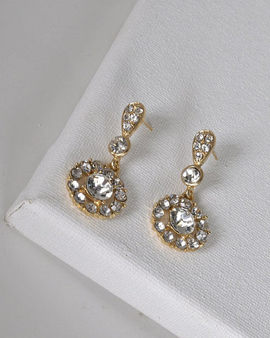 Drop Earrings with Post Back Closure