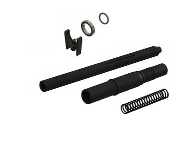*Reference part #AR310884 (ARAC3955) COMPOSITE CENTRE SLIDER DRIVESHAFT SET 1 x Front Section (Long Wheelbase models) 1 x Rear Section 1 x Spring  *Reference part #AR310878 (ARAC4024) CENTRE DRIVESHAFT HIGH SPEED SUPPORT SET 1 x Center Driveshaft Support 1 x 15 x 21 x 4mm Ball Bearing 1 x 12 x 2mm O-Ring 1 x M2.5 x 8mm Cap Head Screw COMPATIBILITY: 3S models; BIGROCK, SENTON