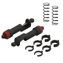 "Load image into Gallery viewer, 2 x Assembled Front Shock Absorber *Reference part - SHOCK SET FRONT (PAIR)#AR330550 (ARA330550) 2 x Front Shock Springs - Length: 2.76"" (70mm) - Stiffness: 5.71lb/in (1.00N/mm) *Reference part - FRONT SHOCK SPRING (2PCS) #AR330538 (ARAC9098)"