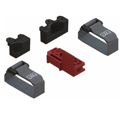 1 x Spine Block *Reference Part - #AR320411 (ARAC3722) CHASSIS SPINE BLOCK 2 x Battery Strap with Buckle - 1 x Rear Battery Spacer - 1 x Front Battery Spacer *Reference Part - #AR320413 (ARAC3109) BATTERY MOUNTING SET
