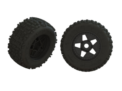 DBOOTS 'BACKFLIP' TIRE SET GLUED (1 PAIR) #ARA550064 (ARA550064)