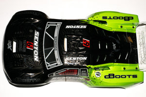ARRMA SENTON II BLX 6S BODY GREEN BLACK - PAINTED DECALED TRIMMED BODY (BLUE)