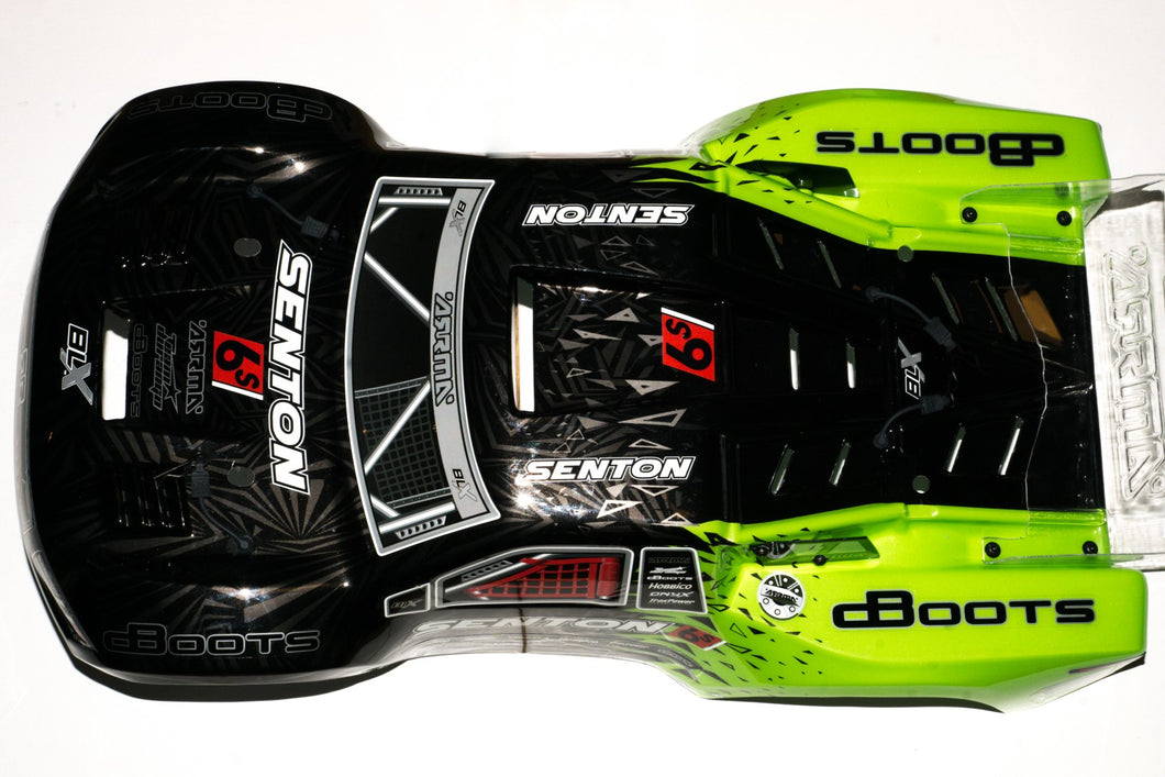 ARRMA SENTON II BLX 6S BODY GREEN BLACK - PAINTED DECALED TRIMMED BODY (GREEN/BLACK)