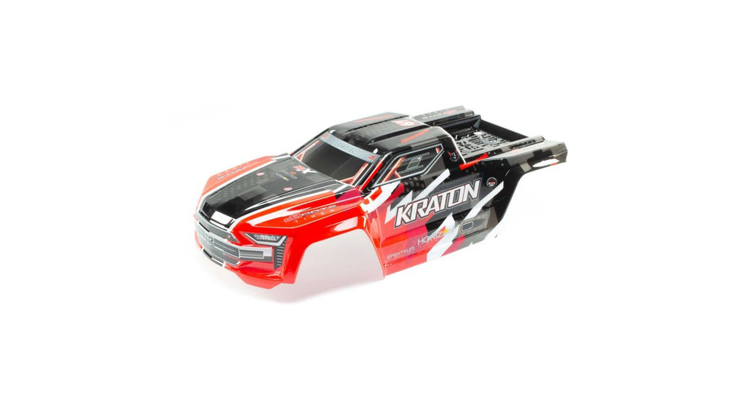 ARRMA KRATON 6S BLX - PAINTED DECALED TRIMMED BODY (RED) + BODY CLIPS