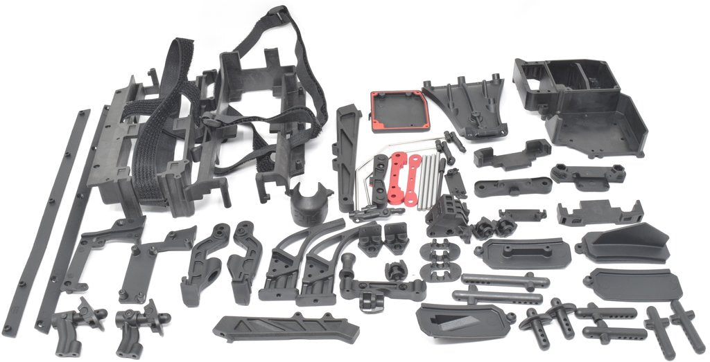 ARRMA LIMITLESS COMPONENT KIT - SUSPENSION MOUNTS, BATTERY BOX, ETC