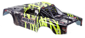 ARRMA MOJAVE 6S BLX PAINTED DECALLED TRIMMED BODY + INTERIOR (BLACK/GREEN)