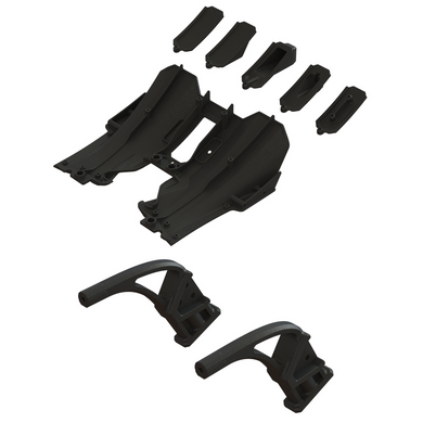 ARRMA (INFRACTION, FELONY) DIFFUSER SET/DIFFUSER SUPPORT #ARA320518 (ARA320518) REAR DIFFUSER SET #ARA320519 (ARA320519) DIFFUSER SUPPORT