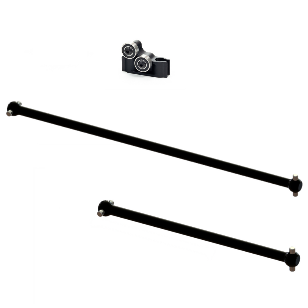 ARRMA (LIMITLESS, INFRACTION, FELONY)  6S - (CENTER) DRIVESHAFT SET AND SUPPORT