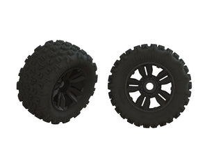 KRATON 8S 1/5 - TIRES & WHEELS (TYRES RIMS DBOOTS COPPERHEAD2 SB MT