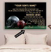 (CT218) American football Poster - to my son - custom