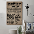 (cv831) LDA American football poster - Dad to Son - always remember