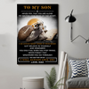 (cv834) LDA American football poster - Dad to Son - Never feel that