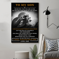(cv835) LDA American football poster - Dad to Son - Never feel that
