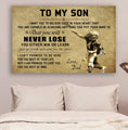 (cv863) LDA American football poster - Dad to Son - never lose
