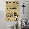(cv838) LDA American football poster - Dad to Son - Never lose