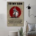 (A204) Knight templar poster - Dad to son - You are braver
