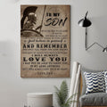 (cv1182) LDA Spartan poster - Dad to Son - And remember