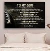 (cv727) American football Poster - Mom son- In my heart LDA