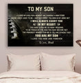 (cv728) American football Poster - Dad  son- In my heart LDA
