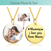 Custom Photo & Text - Gold Chain Necklace