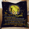 (QL563) LVL Softball quilt - Dad to daughter - I love you