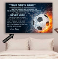 (CT220) Soccer Poster - never lose - custom