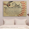 (cv980) LVL Baseball poster - To Dad - For all those times