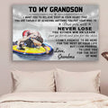 (cv739) QH Wrestling Poster - grandma to grandson - never lose vs3