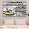 (cv734) QH Wrestling Poster - grandpa to grandson - never lose vs2