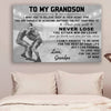 (cv733) QH Wrestling Poster - grandpa to grandson - never lose vs1