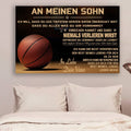 (cv759) QH basketball Poster - dad to son - never lose german version