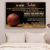 (cv758) QH basketball Poster - dad to daughter - never lose german version