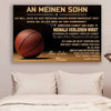 (cv761) QH basketball Poster - mom to son - never lose german version