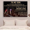 (CV796) LHĐ Athletics Poster - Dad to son - never lose