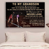 (CV802) LHĐ Athletics Poster - grandma to grandson - never lose
