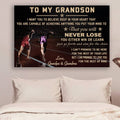 (CV803) LHĐ Athletics Poster - grandpa&grandma to grandson - never lose
