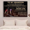 (CV801) LHĐ Athletics Poster - grandpa to grandson - never lose