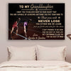 (CV806) LHĐ Athletics Poster - grandpa&grandma to granddaughter - never lose