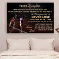 (CV799) LHĐ Athletics Poster - Dad to daughter - never lose