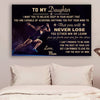 (cv879) LHD Athletics poster - Mom to Daughter - never lose