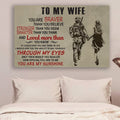 (cv933) QH soldier Poster - to wife - you are my sunshine vs2