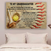 (CV605) softball poster - grandma to granddaughter - never lose