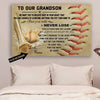 (CT221) Baseball Poster - to our grandson - never lose custom