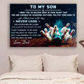 (cv937) LVL bowling poster - Dad to son - never lose
