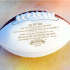 (AF14) AMERICAN FOOTBALL BALL - DAD TO SON - NEVER LOSE