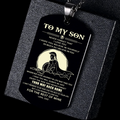 (DTA46) SPARTAN BLACK DOG TAG - DAD TO SON - YOUR WAY BACK HOME