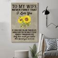 (cv781) QH sunflower Poster - to wife - never forget that
